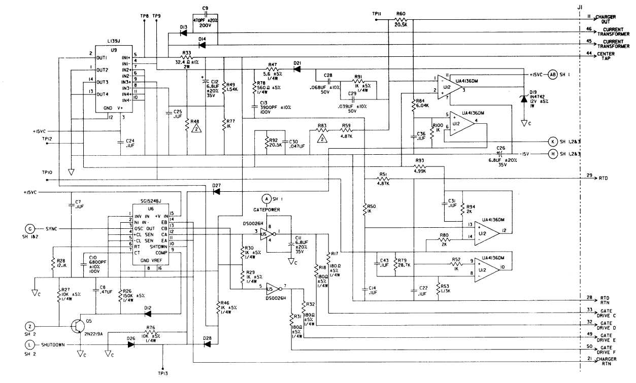 f0 10 generator electronics module printed wiring assembly schematic sheet 4 of 4