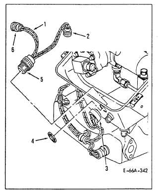 remove fuel control wiring harness assembly